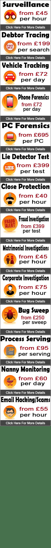 Private Investigator Costs in Manchester